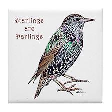 Starlings Are Darlings Tile Coaster