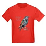 Starlings Are Darlings Kids Dark T-Shirt