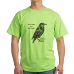 Starlings Are Darlings Green T-Shirt