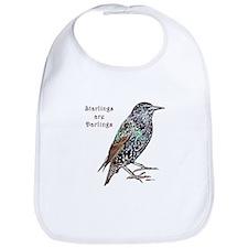 Starlings Are Darlings Bib