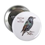 "Starlings Are Darlings 2.25"" Button"