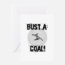 "Bowdrill ""Bust a Coal"" Greeting Card"