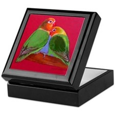 "Keepsake Box ""Lovebirds"""
