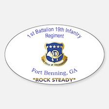 1st Bn 19th Inf Sticker (Oval)