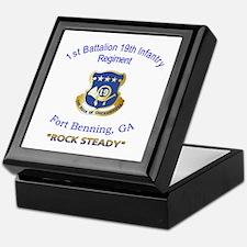 1st Bn 19th Inf Keepsake Box