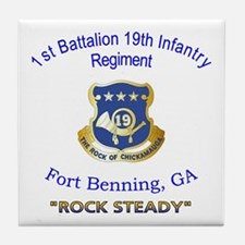 1st Bn 19th Inf Tile Coaster