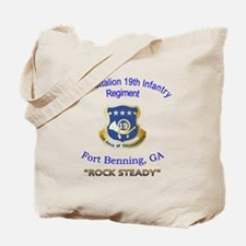 1st Bn 19th Inf Tote Bag