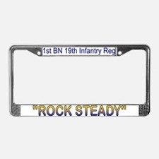 1st Bn 19th Inf License Plate Frame