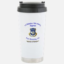 1st Bn 19th Inf Stainless Steel Travel Mug