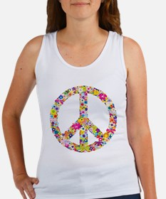 Peace Flowers Women's Tank Top