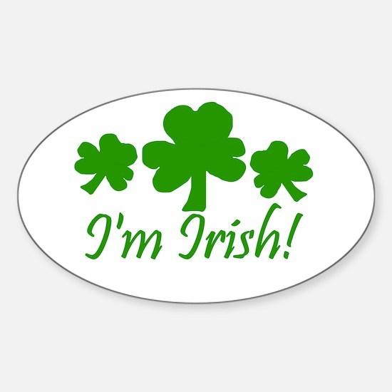 I'm Irish Oval Decal