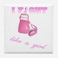 I fight Like a Girl Breast Ca Tile Coaster