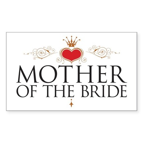 Mother of the Bride Sticker (Rectangle)
