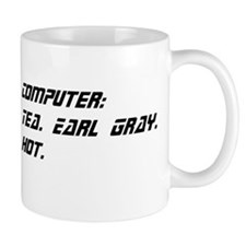 Computer: Tea. Earl Gray. Hot. Small Mug