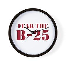 Fear The B-25 Wall Clock