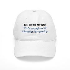 You Read My Baseball Cap Baseball Cap