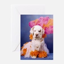 Clumber Spaniel Party Girl Greeting Card