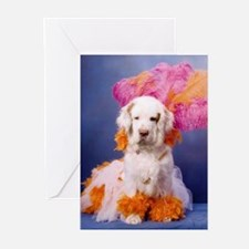 Clumber Spaniel Party Girl Greeting Cards (Pk of 1