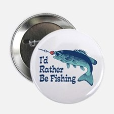 """Funny Fishing 2.25"""" Button"""