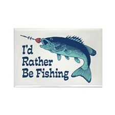 Funny Fishing Rectangle Magnet