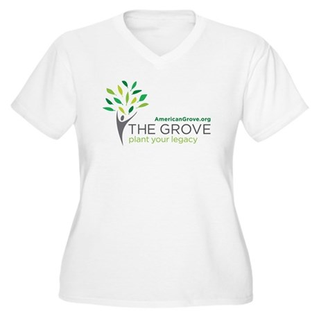 American Grove Women's Plus Size V-Neck T-Shirt