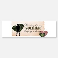 standing by my soldier Bumper Bumper Sticker