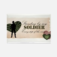 standing by my soldier Rectangle Magnet