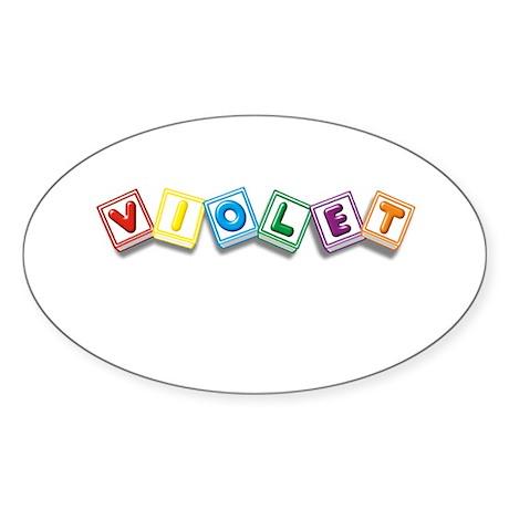 Violet Sticker (Oval)