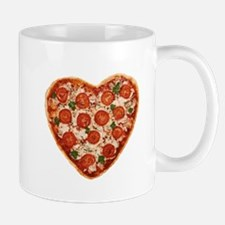 heart shaped pizza Mugs