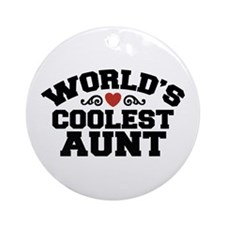 World's Coolest Aunt Ornament (Round)