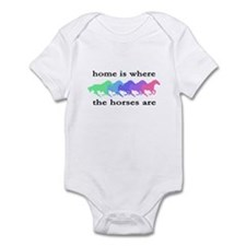 Home is where the horses are Infant Bodysuit