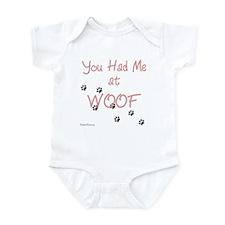 WOOF (pink) Infant Bodysuit