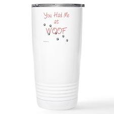 WOOF (pink) Travel Mug