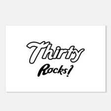 Thirty Rocks Birthday Postcards (Package of 8)