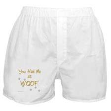 WOOF (gold) Boxer Shorts