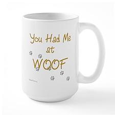 WOOF (gold) Mug