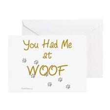 WOOF (gold) Greeting Cards (Pk of 10)