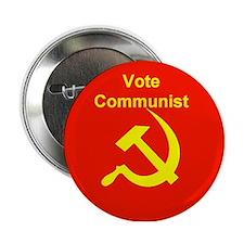 Vote Communist Button
