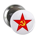 Hammer & Sickle Red Star Button