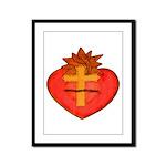 Sacred Heart/Sagrado Corazon Framed Panel Print