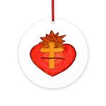 Sacred Heart/Sagrado Corazon Ornament (Round)
