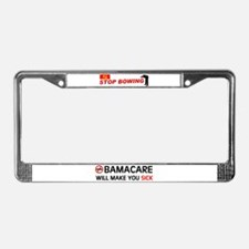 WE'RE GETTING SCREWED License Plate Frame