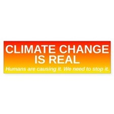 Climate Change is Real Car Sticker