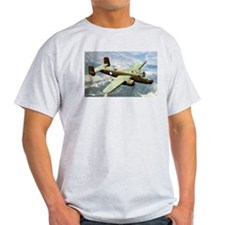 B-25 In Flight Ash Grey T-Shirt