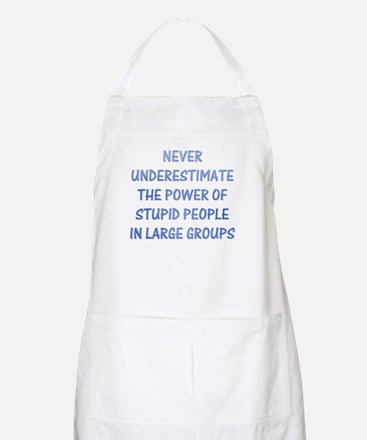 The Power Of Stupid People BBQ Apron