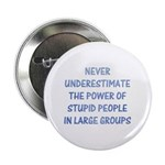 The Power Of Stupid People Button
