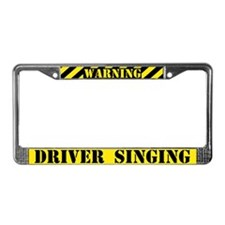 Singing Driver License Plate Frame