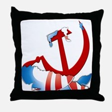Inside The Obama Logo Throw Pillow