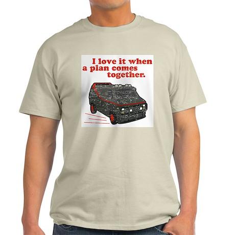 A-Team van & quote Ash Grey T-Shirt