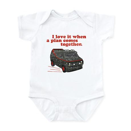 A-Team van & quote Infant Creeper